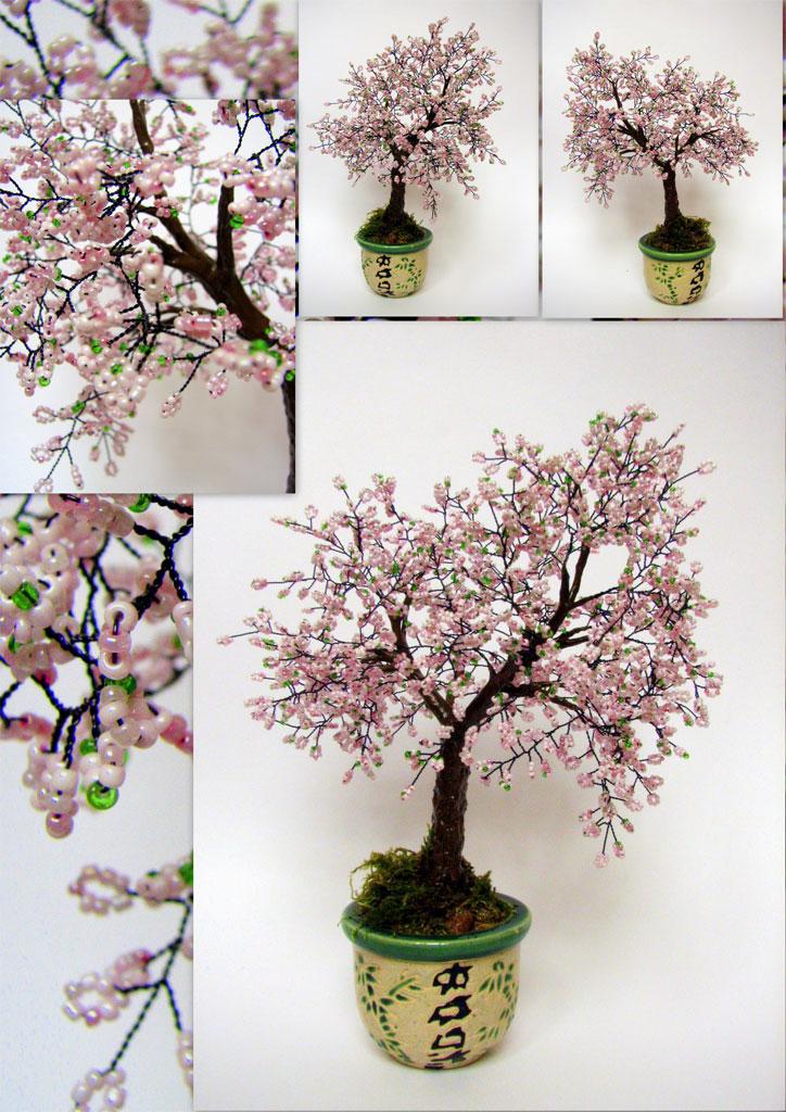 деревья из бисера схемы плетения инь янь - Вышивка бисером.